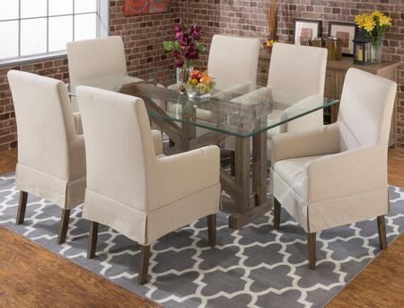Jofran 87278B78GKTSET7 Hampton Dining Room Sets