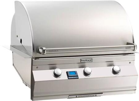 """FireMagic A660I5L1X Aurora 36.5"""" Built-In Grill with E-Burnerrs, One Infrared Burner, and Digital Thermometer"""