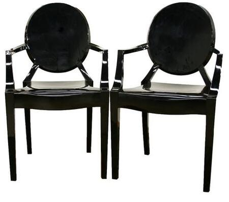 Wholesale Interiors PC-449 Dymas Series Set of 2 Modern Acrylic Ghost Chairs: