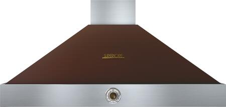 """Tecnogas Superiore HD481ACM 48"""" DECO Series Pyramid Hood With 4 Speed Settings, Stainless Steel Baffle Filters, Analog Control, And 600 CFM Maximum Aspiration Capacity: Brown With"""