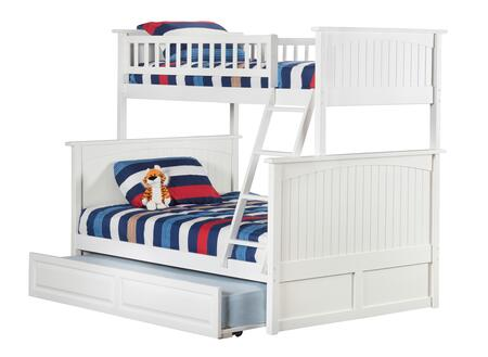 Atlantic Furniture AB5923 Nantucket Bunk Bed Twin Over Full With Raised Panel Trundle Bed