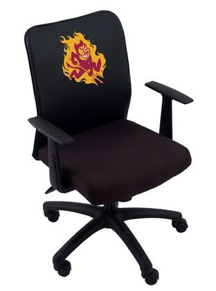 Boss B6106-LC Boss Basic Mesh Task Chair with Arms and Logo