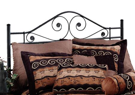 Hillsdale Furniture 1403H Harrison High Profile Headboard with Rails Included, Delicate Scrollwork, Tubular Steel and Aluminum Construction in Textured Black Color