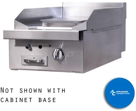 "Southbend P18P Platinum Series 18"" Griddle with a Standard Burner and Plancha Plate, Up to 16000 BTUs (NG)/15500 BTUs (LP)"