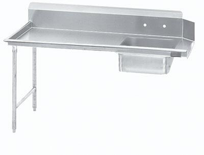 "Advance Tabco DTS-S70-48 47"" Standard Soil Straight Dishtable"