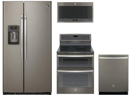 GE Profile 742106 Slate Kitchen Appliance Packages