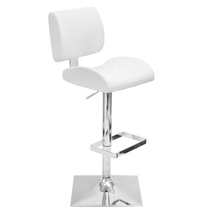 """LumiSource Locust BS-TW-LOCUST 37"""" - 45"""" Barstool with 360-Degree Swivel, Molded Foam Padded Seat and Leatherette Upholstery in"""