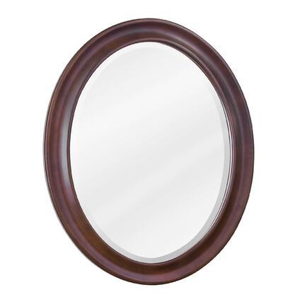 Bath Elements MIR062 Clairemont Series Oval Portrait Bathroom Mirror