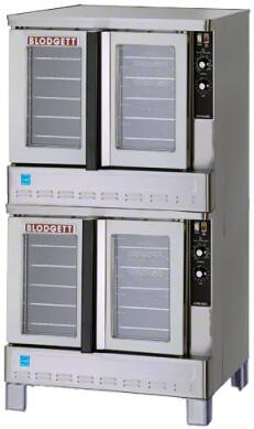 """Blodgett Zephaire-200-G-ES 39"""" Energy Star Bakery Depth Gas Convection Oven with Rigid Insulation, Porcelain Liner, Dependent and Heavy Duty Doors:"""