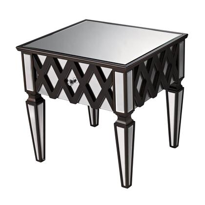 Sterling 6043676 London Series Contemporary Wood Rectangular 1 Drawers End Table