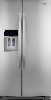 """Whirlpool WRL767SIAM Freestanding 26.5 cu. ft. 9.9 cu. ft. No 35.4375"""" Side by Side Refrigerator 