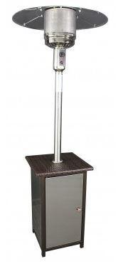 Wicker Stand Patio Heater with Stainless Steel Door