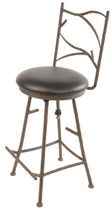 "Stone County Ironworks 904-123-WOOD Pine Barstool 25"" With Wood Seat"