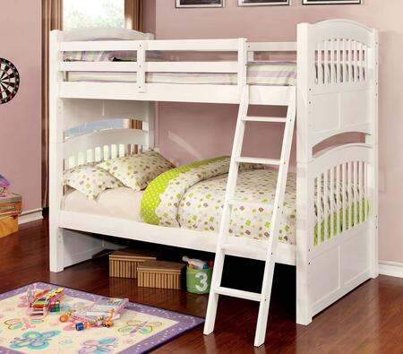 Furniture of America CMBK925BED Cassia Series  Twin Size Bunk Bed