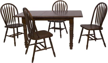 Sunset Trading DLUTLB3660820CT5PC Andrews Dining Room Sets