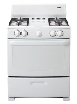 Danby DR3009WGLP  Gas Freestanding Range with Sealed Burner Cooktop, 4.3 cu. ft. Primary Oven Capacity, Broiler in White