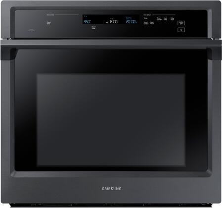 """Samsung NV51K6650S 30"""" Single Wall Oven offers 5.1 cu. ft. Capacity, Dual Fan True Convection, Backlit Touch Controls, Glide Rack and Wifi, in"""