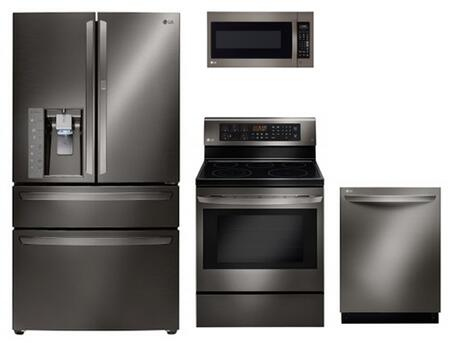 LG 728979 Black Stainless Steel Kitchen Appliance Packages