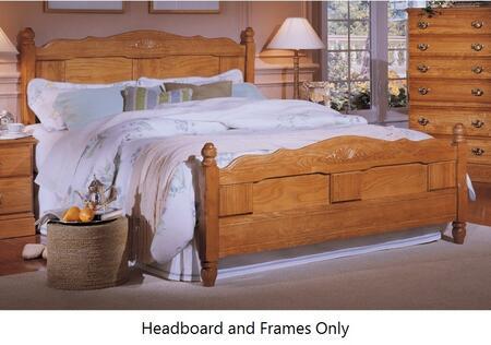 Zoom In Carolina Furniture Oak Main Image Frame Heirlooms Panel Complete Bed 4