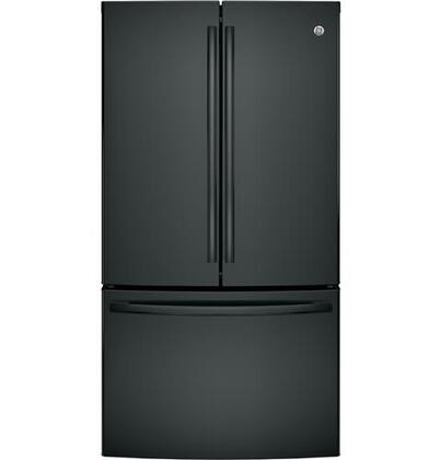 "GE GNE29G 36"" Freestanding French-door Refrigerator with 28.5 Cu. Ft. Capacity, TwinChill evaporators, Advanced water filtration and Factory-installed icemaker in"