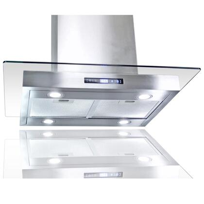 "Golden Vantage GIRCI30 30"" Island Mount Range with 870 CFM, 65 dB, Innovative Touch, LED Lighting, 3 Fan Speed, Aluminum Grease Filter and X: Stainless"