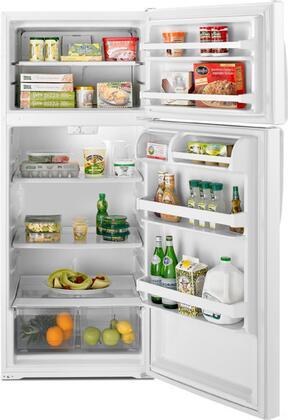 Whirlpool W8TXEGFYB Freestanding Top Freezer Refrigerator with 17.6 cu. ft. Total Capacity 2 Glass Shelves 4.07 cu. ft. Freezer Capacity