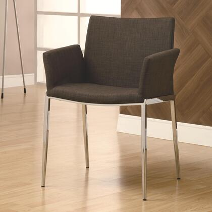 Coaster 120721 Dining 120 Series Contemporary Fabric Metal Frame Dining Room Chair