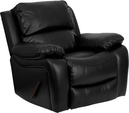 Flash Furniture MENDA343991BKGG Contemporary Bonded Leather Wood Frame Rocking Recliners