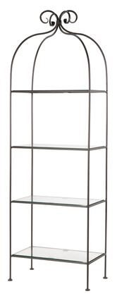 Stone County Ironworks 901-180 Scroll Standing Shelf Width 4-Tier