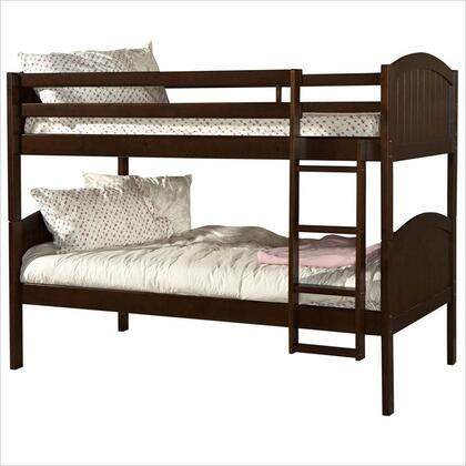 Linon K90160DKCHYABKDU Paula Series  Twin Size Bunk Bed