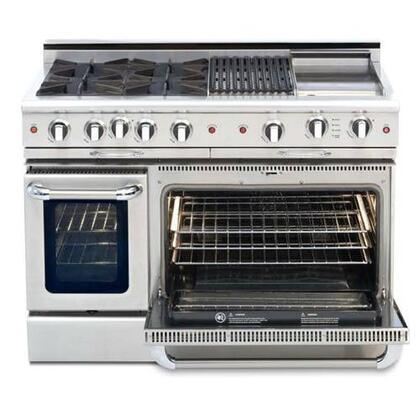 "Capital CSGR482BG2L 48"" Culinarian Series Liquid Propane Freestanding Range with Sealed Burner Cooktop, 4.6 cu ft Primary Oven Capacity,"