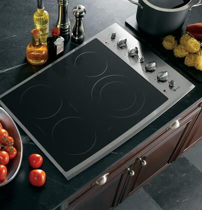 "GE Profile PP932SMSS 30"" Profile Series Electric Cooktop 