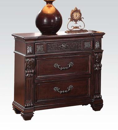 Acme Furniture 20503 Vevila Series Rectangular Wood Night Stand