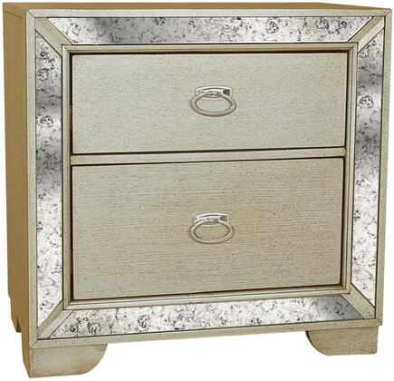 Myco Furniture MA193N Madi Series Rectangular Veneers Night Stand