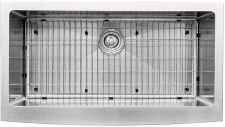"""Kraus KHF20036KPF1622KSD30 Precision Series 36"""" Apron Front Kitchen Sink with Stainless Steel Construction, NoiseDefend, and Included Pull-Down Kitchen Faucet"""