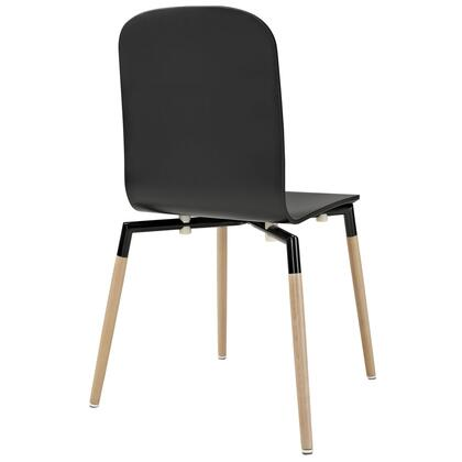 Modway EEI-1054 Stack Wood Dining Chair with Solid beech wood legs, Foot caps, 330 lbs. Capacity, 25mm steel tube frame and Modern Design