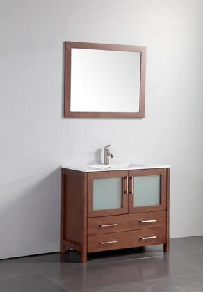 Legion Furniture WA7936 36in. Solid Wood Sink Vanity With Mirror-No Faucet