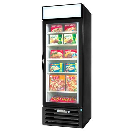 "Beverage-Air MMF23-1 MarketMax 27"" One Section Glass Door Reach-In Merchandiser Freezer with LED Lighting, 23 cu.ft. Capacity, [Color] Exterior, [Electronic Lock] and Bottom Mounted Compressor"