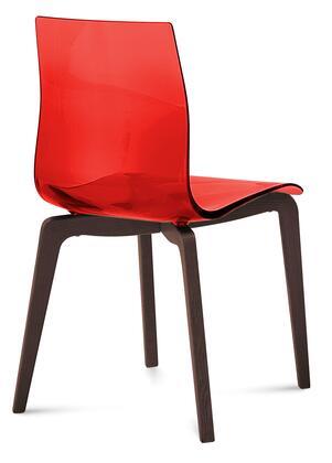 Domitalia GELSLSFCHSSRO Gel Series Transitional Wood Frame Dining Room Chair