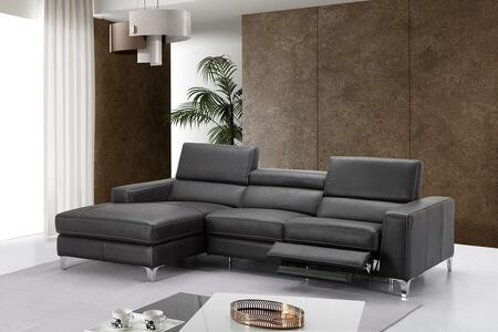 J And M Furniture 18208lhfc Ariana Series Reclining Leather Sofa