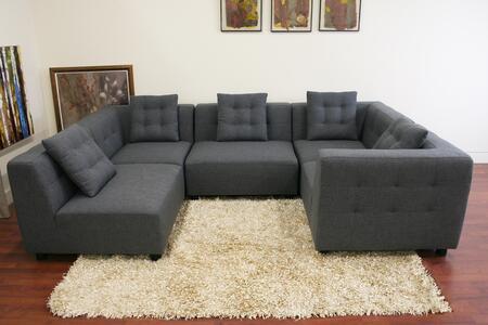 Wholesale Interiors TD0902A22714AONEARM Alcoa Series Modular Sofa