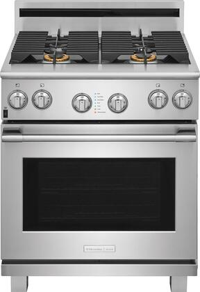 Electrolux Icon ExGF74TPS Pro Style Gas Range with CustomConvect Convection, Smooth-Glide Oven Racks, in Stainless Steel