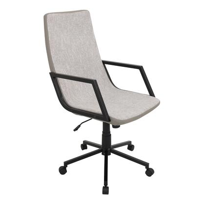 "LumiSource Senator OFC-AC-SN 42"" - 44"" Office Chair with 360-Degree Swivel, Adjustable Height and Woven Fabric Upholstery in"
