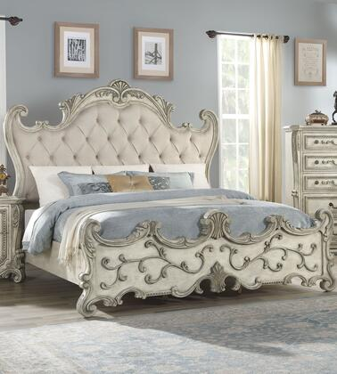 Acme Furniture Template: Braylee Collection 27177EK Eastern King Bed in Fabric & Antique White