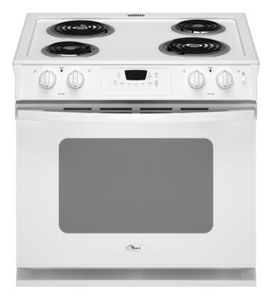 "Whirlpool WDE150LVQ 30"" Slide-in Electric Range with Coil Cooktop 4.5 cu. ft. Primary Oven Capacity"