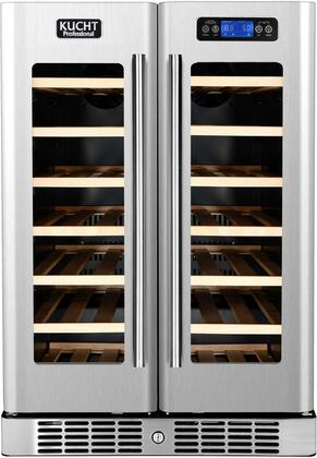 """Kucht K148x 24"""" Wine Cooler with Touch-Key Control Panel, Fan Forced Cooling System, Safety Lock, in Stainless Steel"""