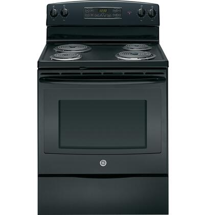GE JBP35DDBB  Electric Freestanding Range with Coil Element Cooktop, 5.3 cu. ft. Primary Oven Capacity, Storage in Black