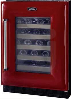 "AGA AWC24CLT 23.88"" Built-In Wine Cooler, in Claret"