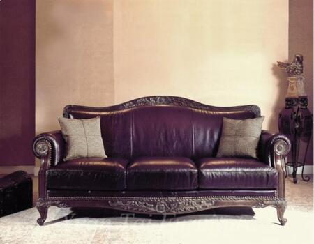 Yuan Tai NA1096L Naomi Series Leather Chair with Wood Frame Loveseat