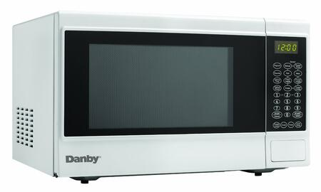 "Danby DMW14SA1 21"" Counter Top Microwave with 1.4 cu. ft. Capacity, 1100 Cooking Watts, 10 Power Levels, Electronic Controls, Easy to Read LED Timer/Clock, Child Proof Lock, and Simple One Touch Cooking in"